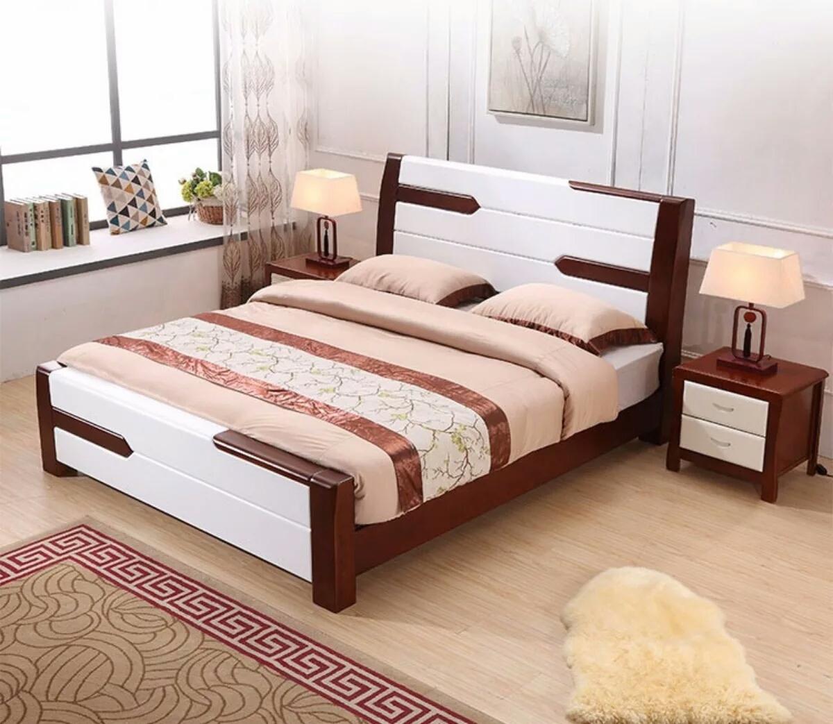 Shipping all wood 1.8 meters 1.5 meters 1.2 meters of oak bed double bed children simple wooden bed