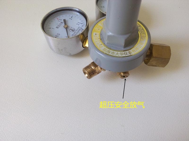 Το άζωτο του αζώτου YQD-07 πίνακα πίεσης Πίνακας πυροσβεστήρες φούσκωμα του ρυθμιστή πίεσης 0-2.5 χαλκού