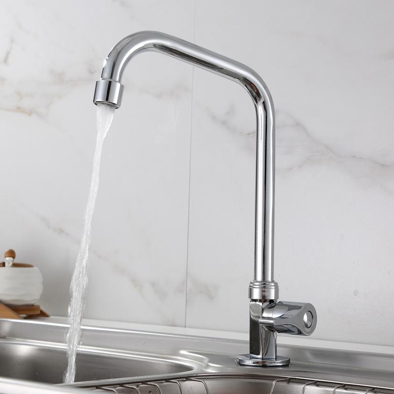 新品台所单冷蛇口野菜を洗うたらいの洗面器水槽蛇口縦型入壁全銅蛇口单冷プランジャ
