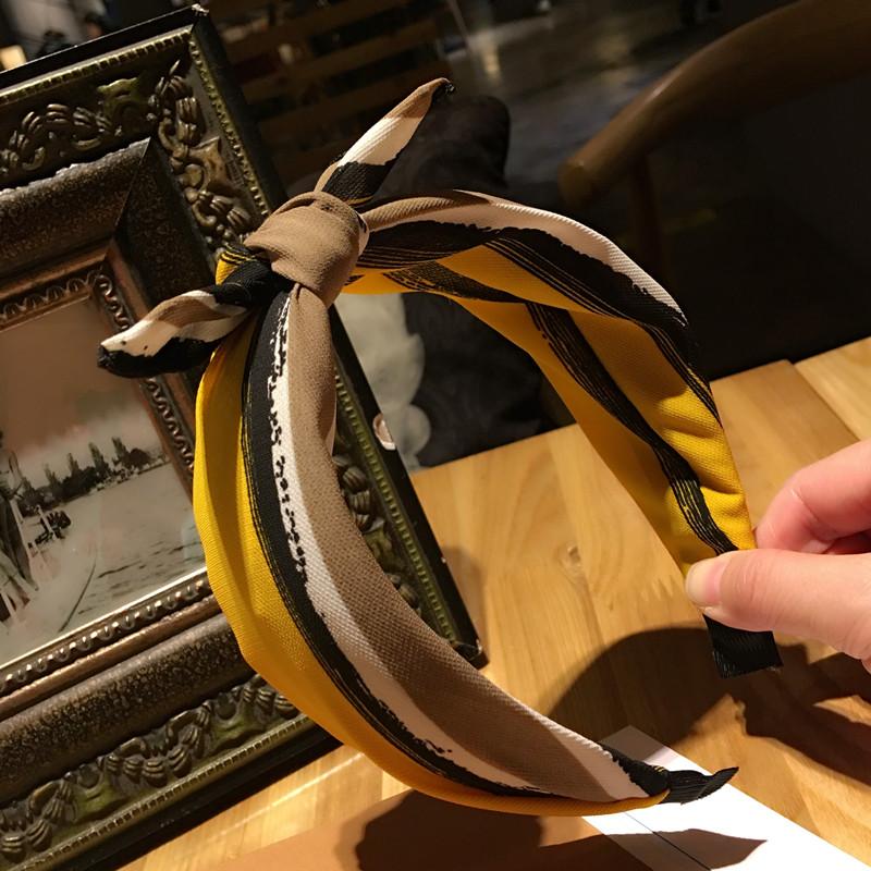 韓版の布でカチューシャファッション春モデルカラー布箍女ヘアピンかつら宽边うさ耳圧発カチューシャ