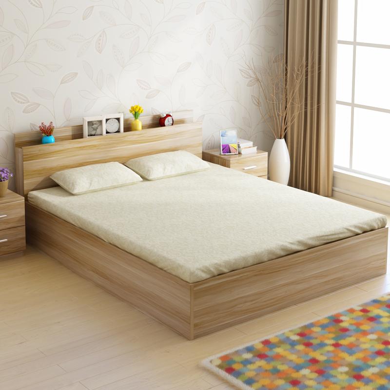 High storage box type bed tatami wood 1.51.2 meters modern minimalist 1.8 meters double bed a single bed