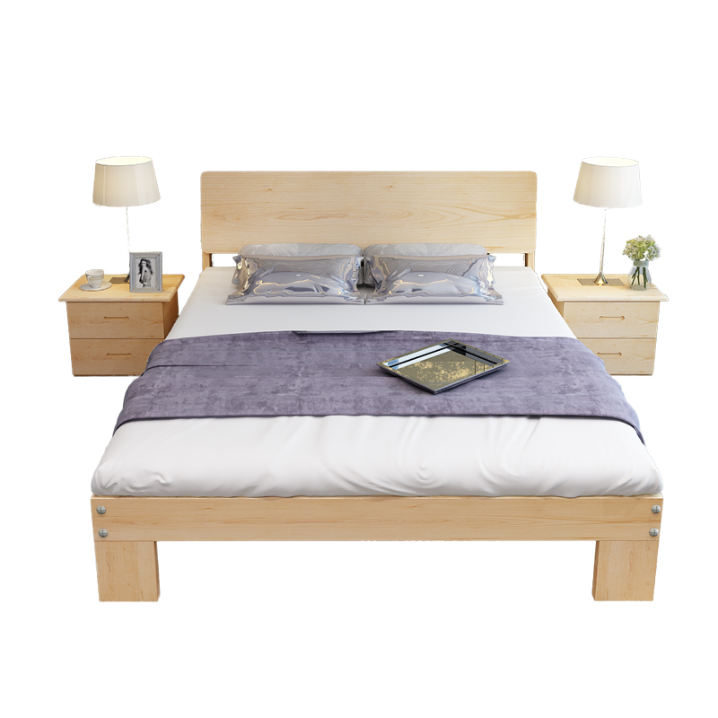 The Nordic pine bedstead single bed 1.81 meters 1.21.5 meters double bed COUCH BED wood m children