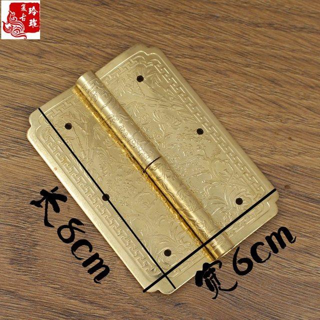 Exquisite chinesische antike Kupfer - Bogen ein scharnier Tür MIT abnehmbaren Ming - Möbel, Aus Kupfer