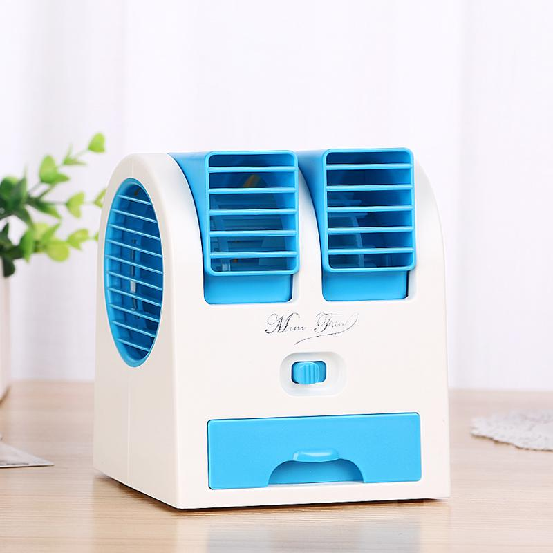 Lithium battery mute portable portable outdoor air conditioner small fan Mini rechargeable water