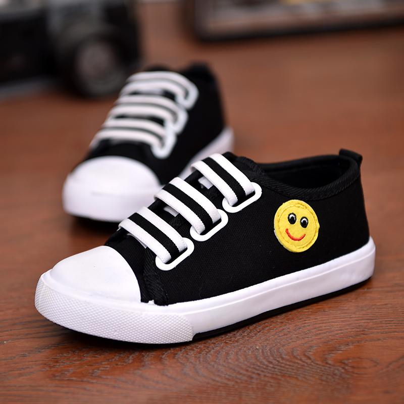 运动帆布鞋休闲鞋球鞋帆布休闲布鞋童乐男童单鞋童鞋子一乐福