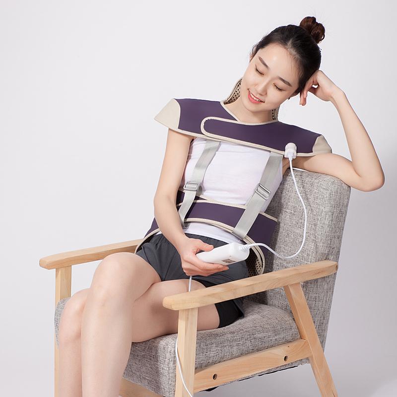 敷佳電気肩掛け帯肩温湿布頸椎セット肩頚護頚帯護発熱保温寝る肩ベルト