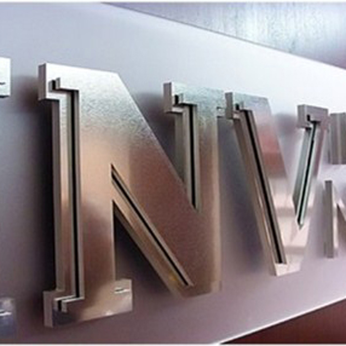 Fine head word signs advertising words mirror stainless steel word customized corporate image LOGO custom wall