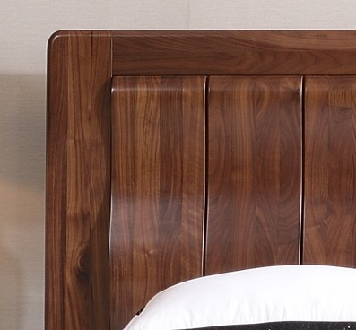 North American black walnut bed, solid wood double high-end simple storage bed, 1.82.0 m big bed, custom made furniture