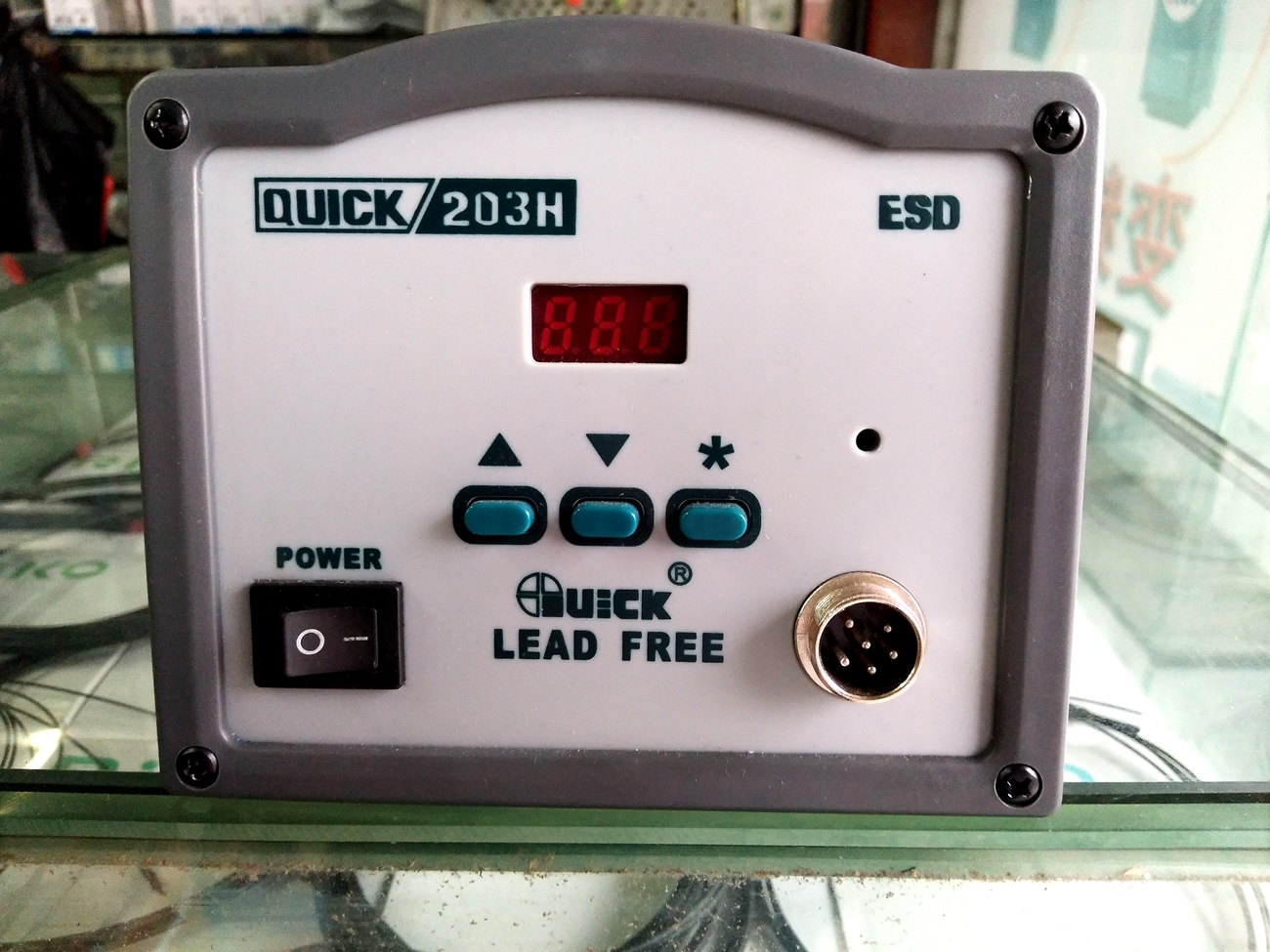 The original QUICK 203H digital temperature crack lead-free soldering station 90W high power high frequency eddy current constant temperature electric iron