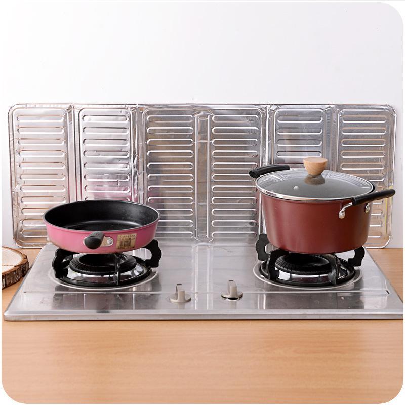Le déflecteur d'huile de cuisine cuisine créative de séparation de l'huile de cuisson de la feuille d'aluminium de chicane d'isolation pour empêcher l'huile de déflecteur anti - projection à chaud