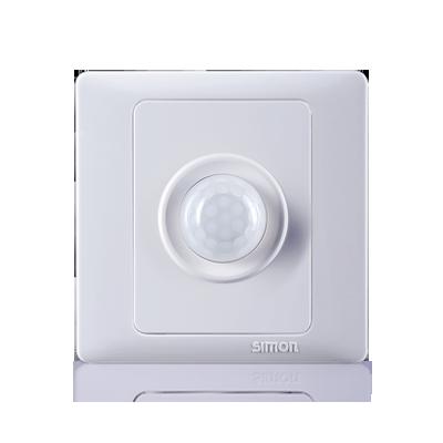 سيمون تبديل مأخذ سلكين الجسم ذكي التعريفي مصباح توفير الطاقة التبديل 雅白 يمكن التحكم 45E301