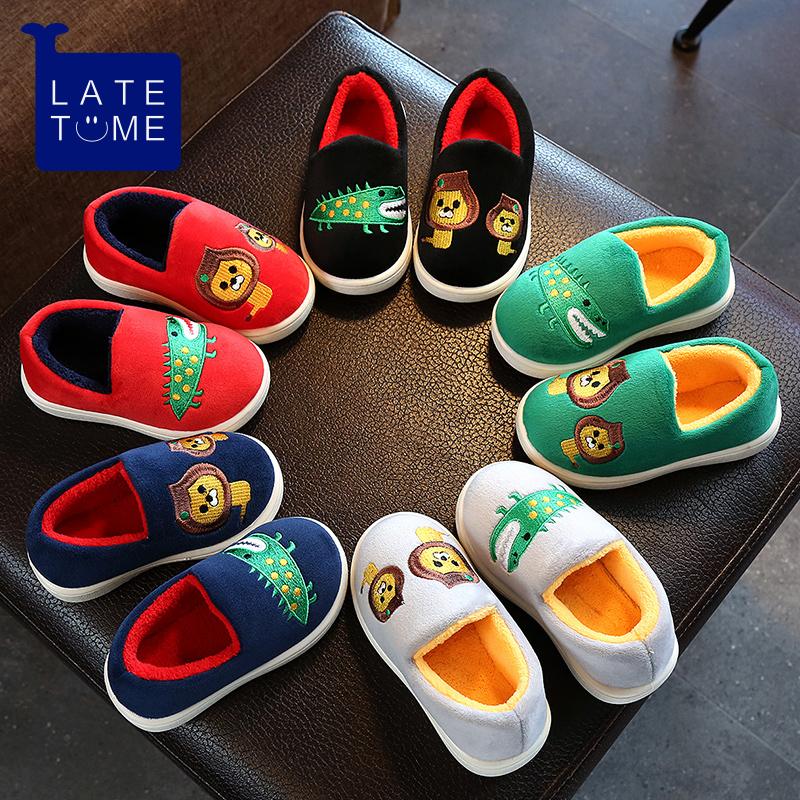 儿童棉拖鞋冬季男女童1-3岁防滑保暖宝宝棉鞋一家三口亲子拖鞋冬