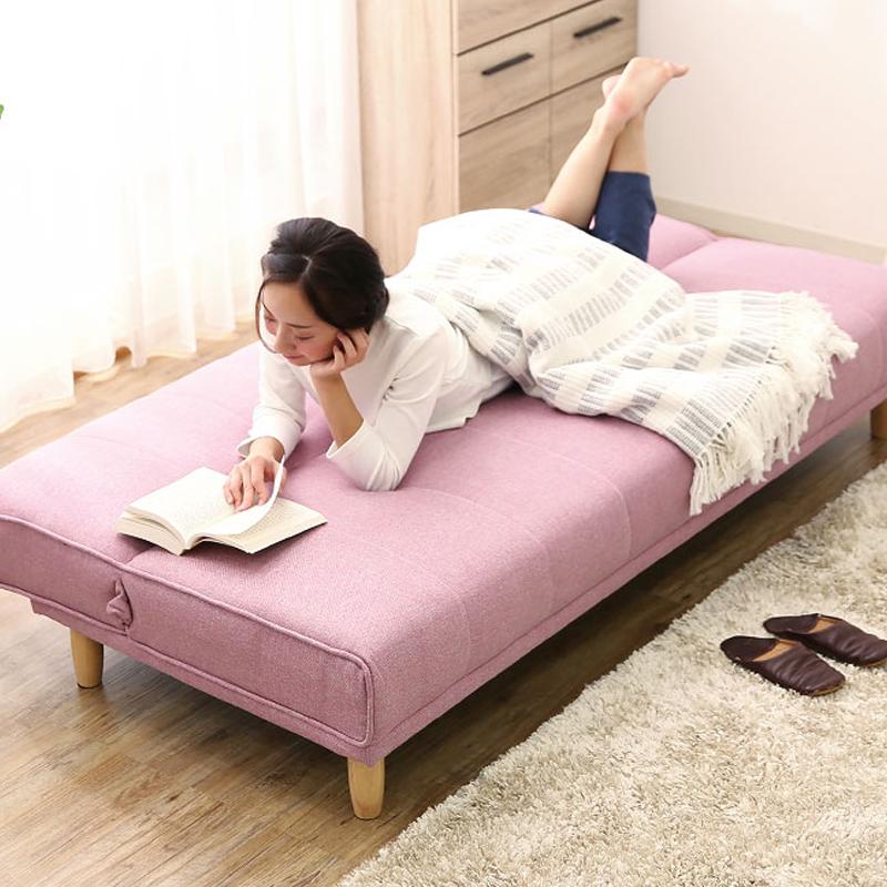 El pequeño de la familia puede ser simple moderno sofá cama plegable la sala multifuncional de 1,8 metros y 2 metros de tela