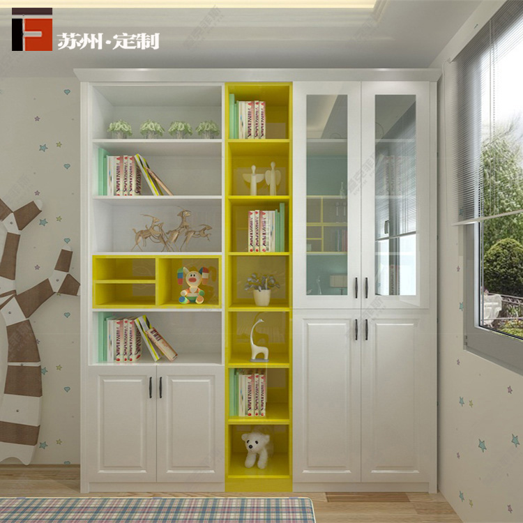 Suzhou platform customized tatami modern minimalist wooden bed study bookcase wardrobe customized customized tatami