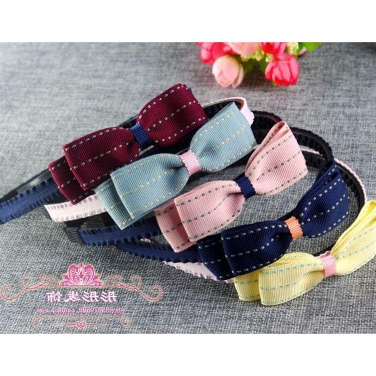 La moda de los niños mariposa nudo Coreano de tela anti - Aro aro princesa de pelo de los dientes con la cabeza de las niñas