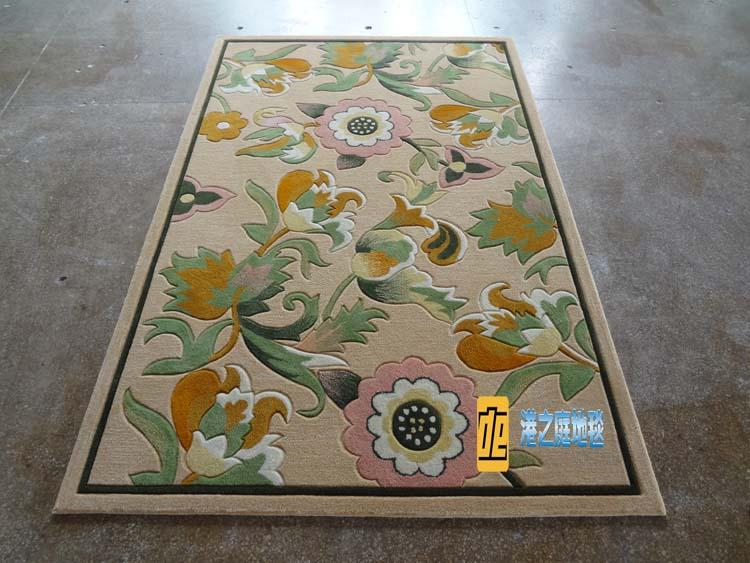 Fashion pastoral children room carpet mat acrylic flower bed blanket aisle porch door mat carpet
