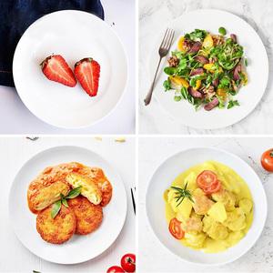白色密胺仿瓷碟子塑料圆盘饭店菜盘圆形快餐商用盖饭酒店火锅餐具