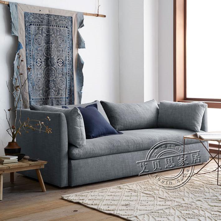 Το αμερικάνικο καναπέ - κρεβάτι 1,8 πτυσσόμενου σκανδιναβική σύγχρονης ύφασμα καναπέ - κρεβάτι καναπέ στο σαλόνι den απλό διπλής χρήσης