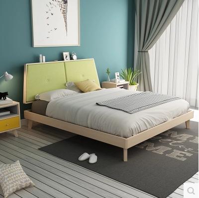 Los muebles de estilo moderno minimalista, cama doble cama de 1,5 metros de 1,8 metros tipo cama
