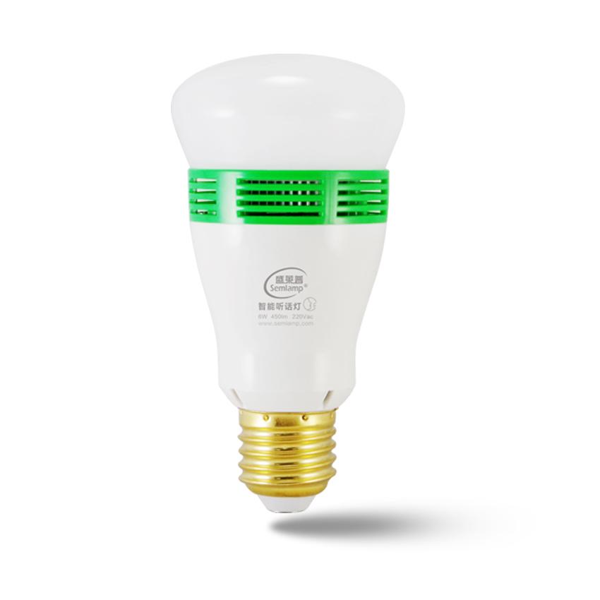 шэн 莱普 интеллектуальные лампочки распознавания речи модуль контроля переключатель дистанционного управления лампочки под звук подарки послушным лампа