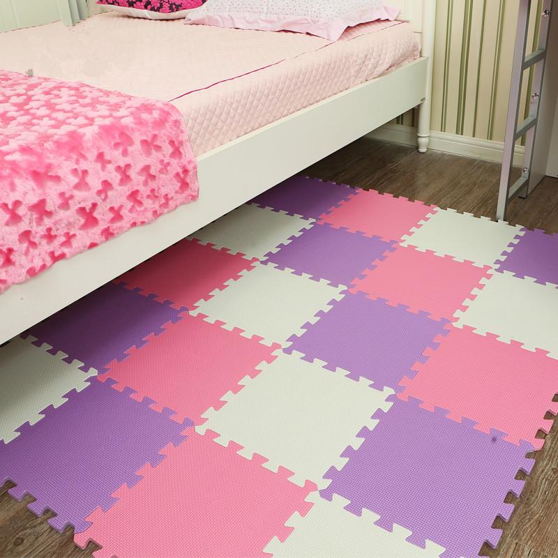 Foam pad puzzle 60 bedroom floor mat tatami thickened stitching baby children climb purple crawling pad