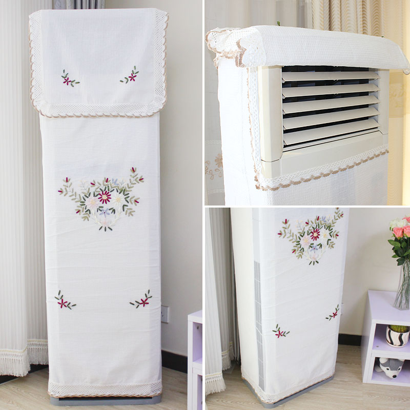Household air conditioner cover does not take the big horse 3P boot cabinet bedroom dust cover vertical windshield curtain set