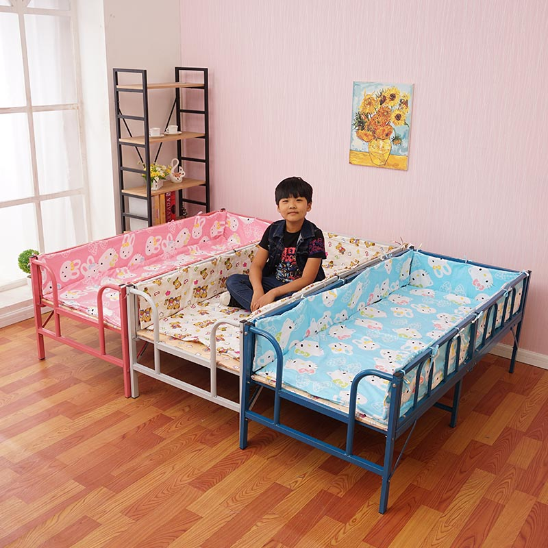 Folding bed with guardrail, bed widening, splicing small bed, single bed, boys and girls bed, single child