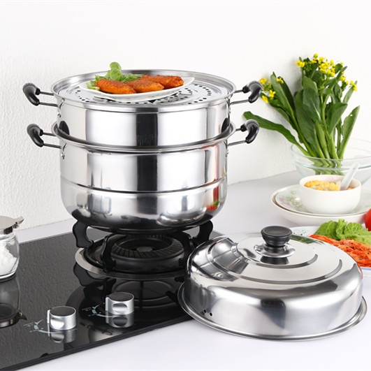 Mini household stainless steel steamer to deepen the general commercial electromagnetic oven gas stove single Qing bin thickened special offer