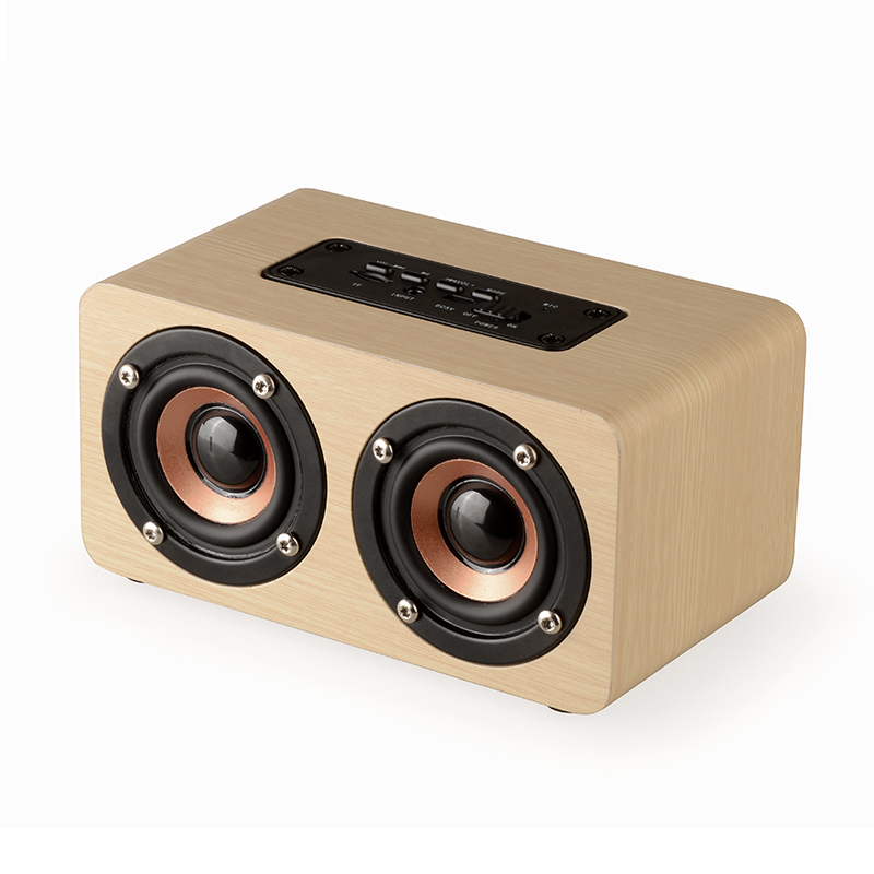 Square dance sound wood portable rechargeable portable Bluetooth speakers small outdoor mobile karaoke