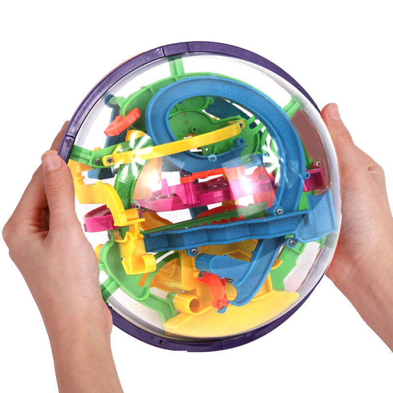 felnőtt! 钢珠 sztereó mini labirintus kirakós palota forgó golyós játékot a gyermekek szellemi egyensúly elérését 3 labda.