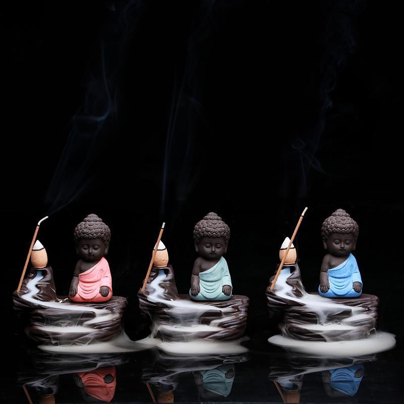 статическая у башни назад кадило ладан Татхагата керамическая горелка творческих туба фиолетовый горы Садо украшения