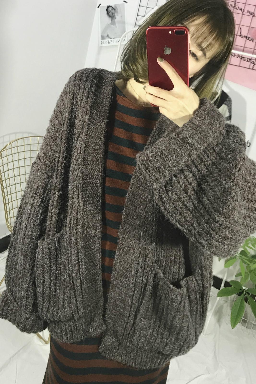 frissen a delicious17 秋冬 韩版 bő pulcsit. - laza kabát a melaszt a kardigánomat