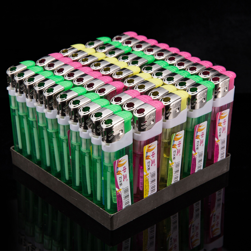 50 disposable plastic lighter flint lighter custom wheel pulley creative advertising printing