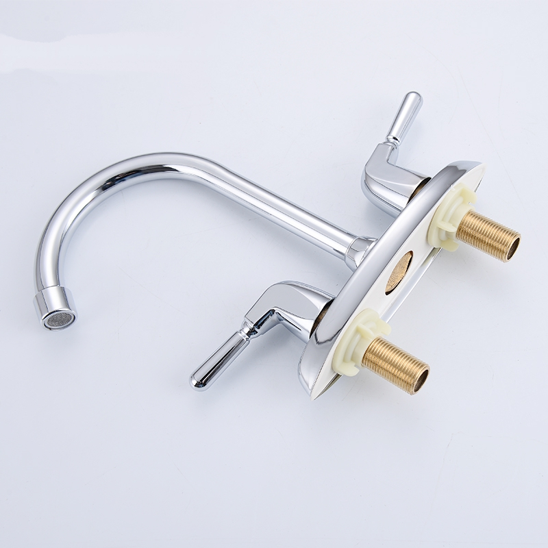 The bathroom single copper basin faucet basin double three wash basin ceramic core