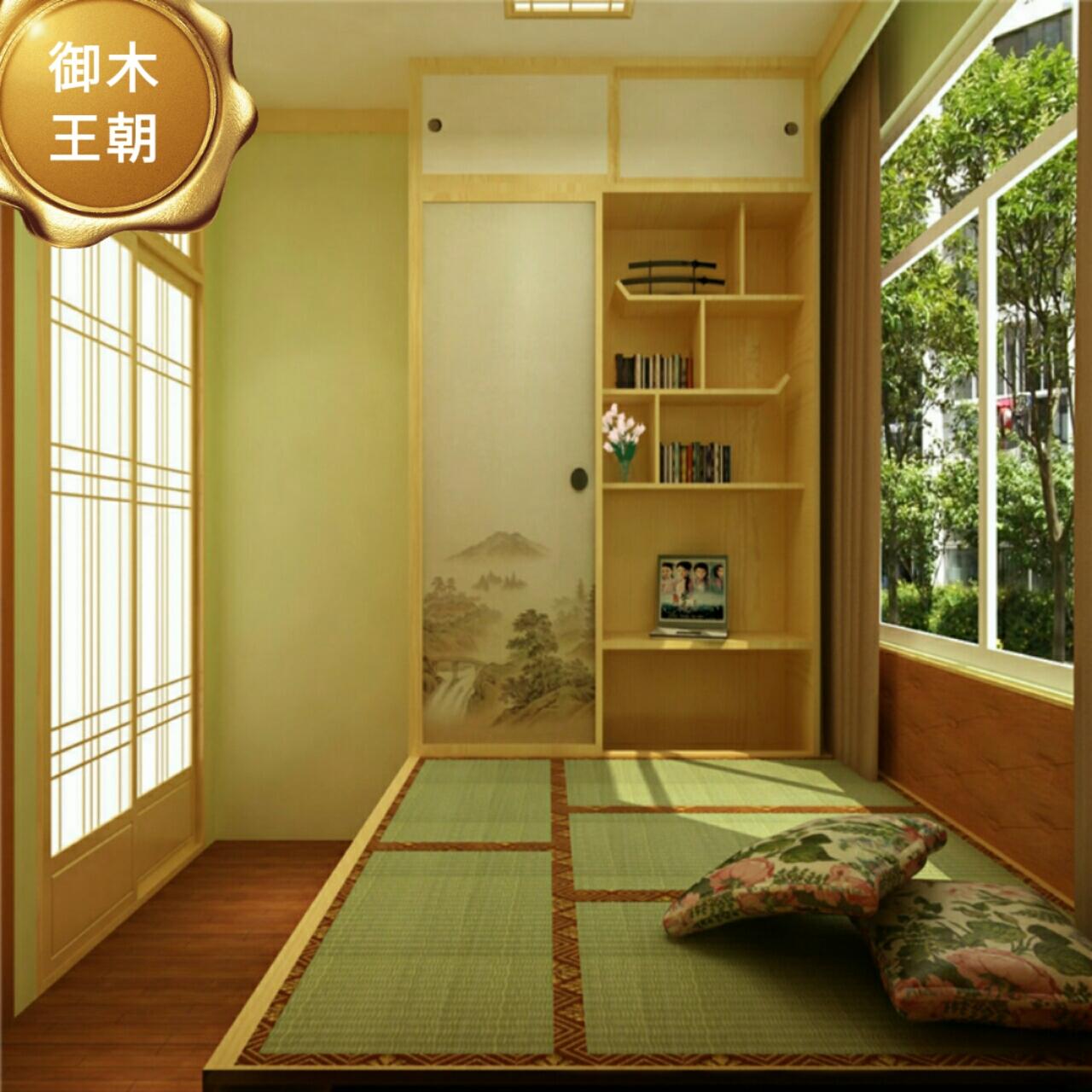 Hefei conjoined desk cabinet wood tatami bed lifting platform custom storage window corner cabinet customized