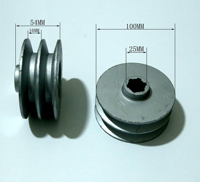 шлицевой вал шкив 170F178F186F культиватор двойной Groove типа B, наружный диаметр внутренний диаметр 25 100