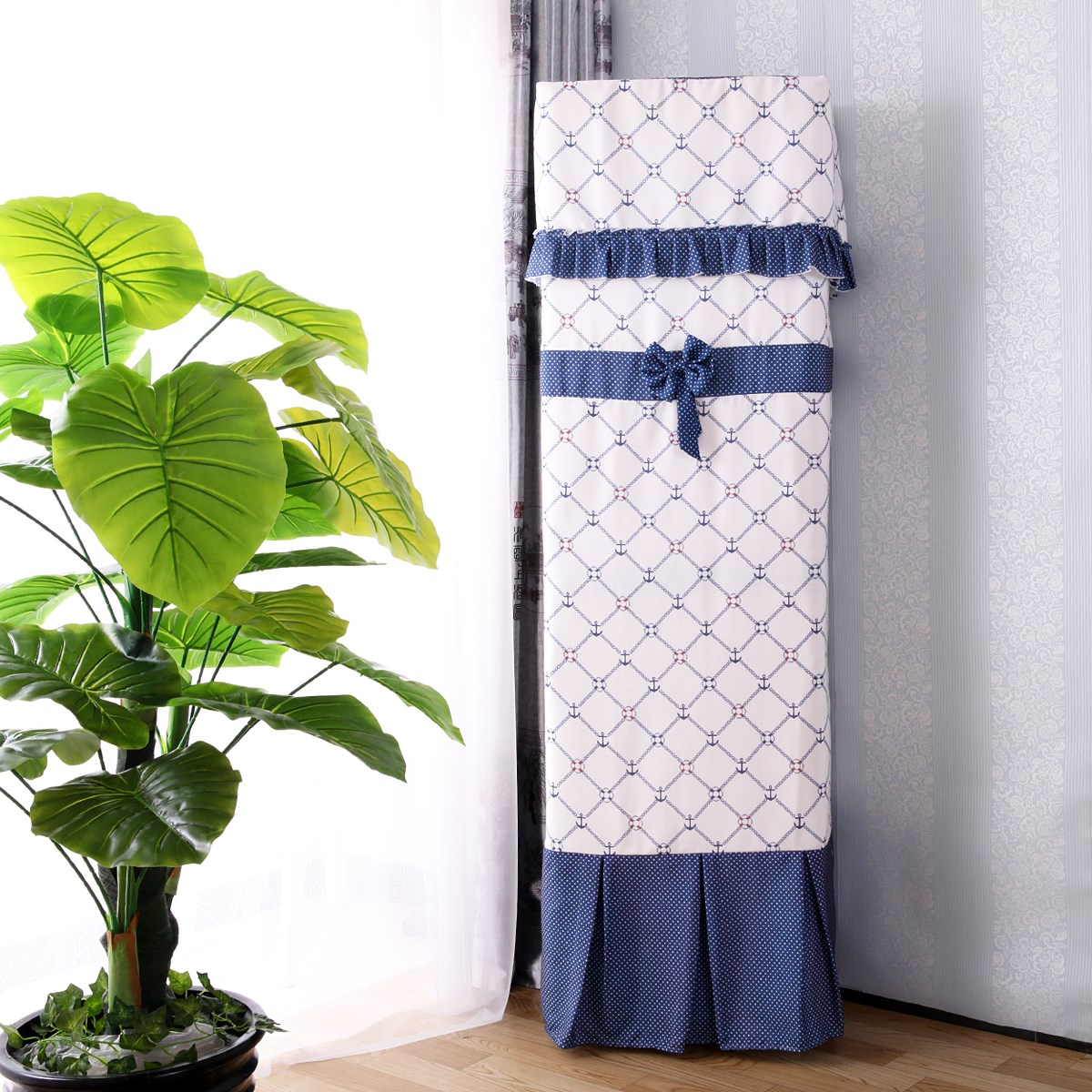 Vertical air conditioner cover cloth cover of air conditioner cabinet 2 big hood lace boot does not take three