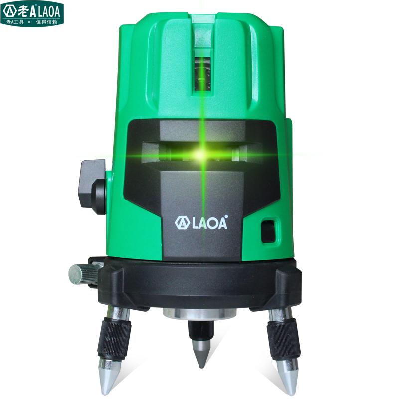 ความสว่างสูงระดับ A สีเขียวแก่ 2 3 เครื่องมือเลเซอร์สายสายสายแสงอินฟาเรด 5 มาตรวัดระดับการเล่นเส้นระดับ