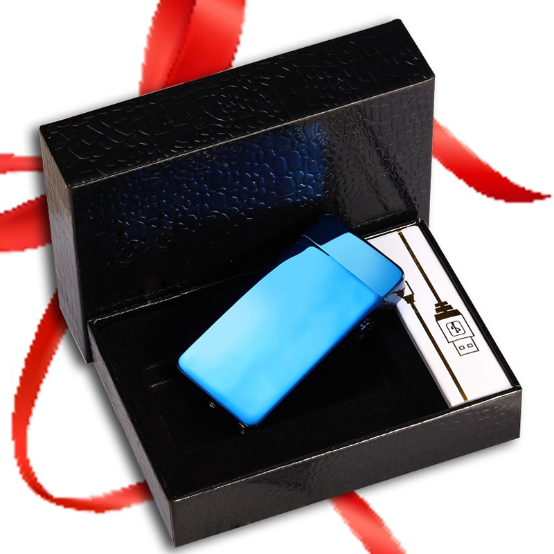 DIY custom photo lettering anti wind charging lighter creative ultra-thin USB electronic cigarette maker personality gift