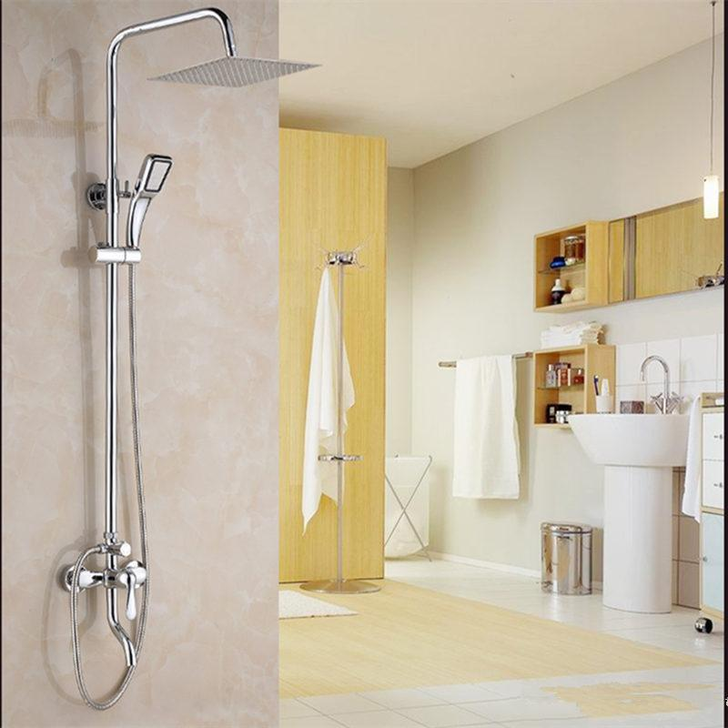Copper bathroom concealed mixed mixing valve water heater shower faucet switch shower set send accessories