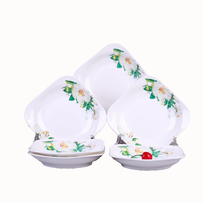 - każdego dnia cztery specjalne] danie na tablicy promocji twórczości ośmiokątne talerz naczynia ceramiczne zastawy stołowe i gospodarstwa domowego