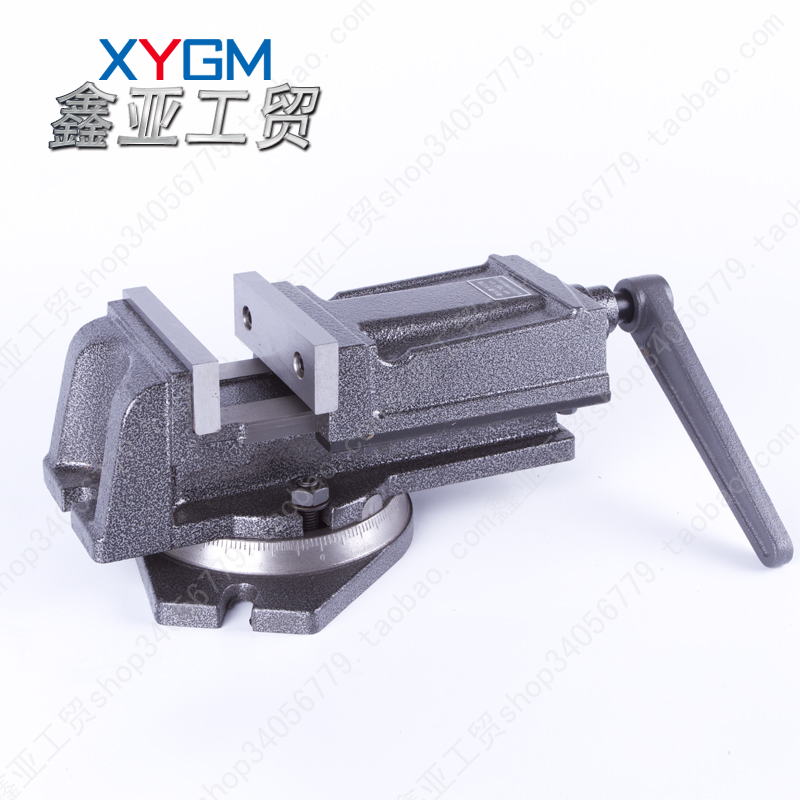 Jinfeng 6 inch machine vice clamp milling machine with QH160 base with scale rotary fixture in Taishan