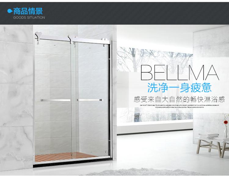 Custom - 304 - dusche wc - trennwand Bad einfache schiebetür vorgespanntes Glas - bildschirm