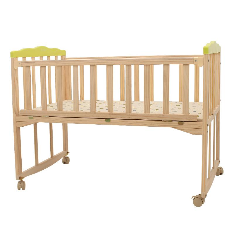 ベビーベッド木造無漆多機能ベッドゆりかごベッド赤ちゃん新生児bb赤ちゃんを持って蚊帳振分盤