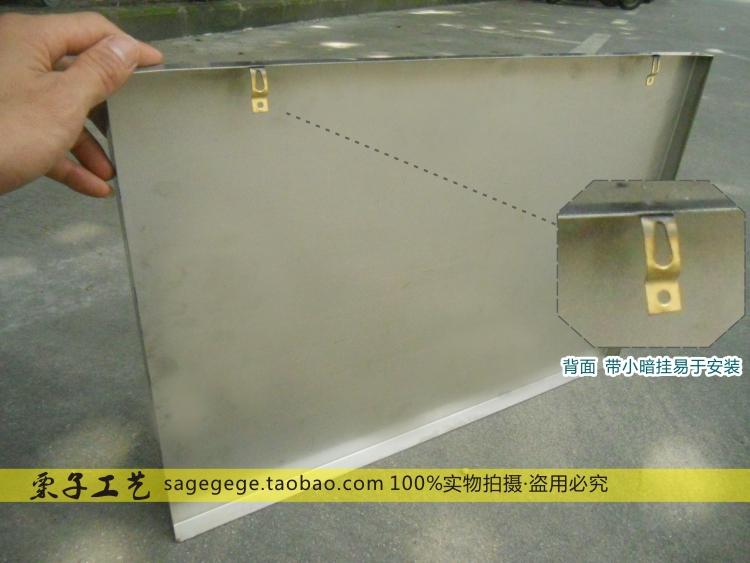 El espejo de acero inoxidable marca personalizado grabado el número de señales de publicidad de tiendas baratas.