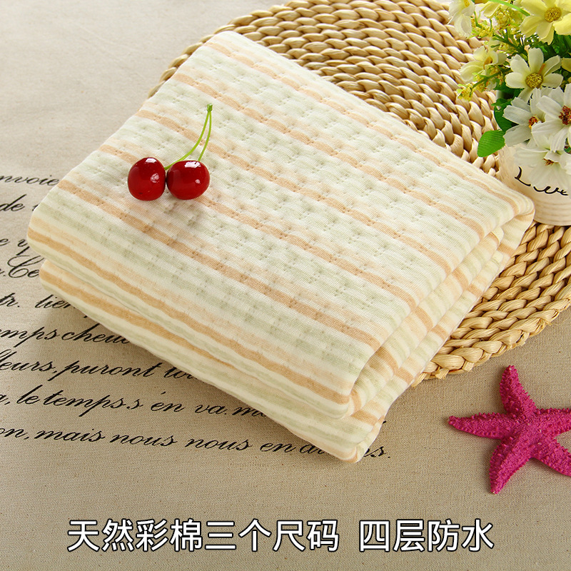Baby urine pad cotton waterproof breathable washable diaper pad thick mattress of newborn