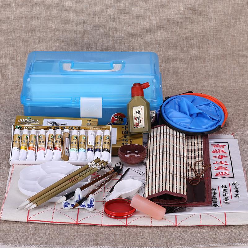Boutique 24 Di Colore per il dipinto cinese la calligrafia pennello inchiostro prodotti rivestiti di tutta una serie di strumenti di 12ml