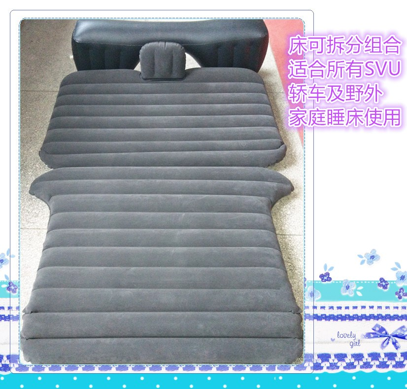 Car car car car air mattress bed with a mattress in the back of the SUV car rear universal travel bed