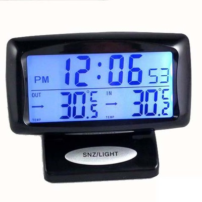 Car clock car and inside and outside double thermometer vehicle vehicle with digital electronic watch with digital electronic watch