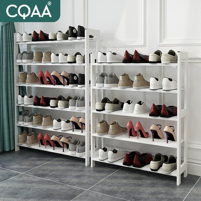 CQAA simple rafturi de pantofi cu praf de la dormitor cu casa albă. pantofi.